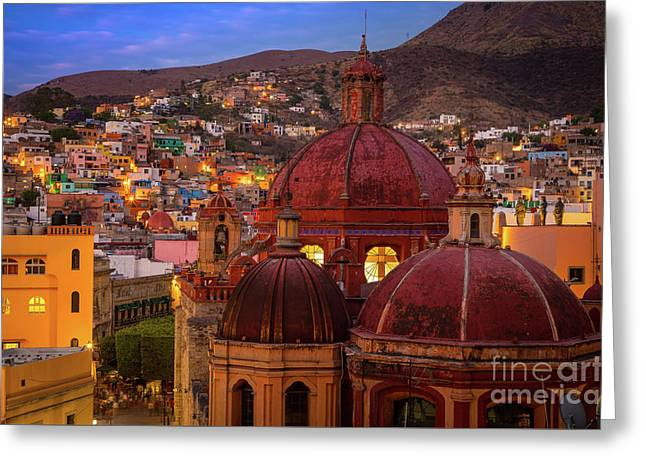 Evening In Guanajuato Greeting Card by Inge Johnsson
