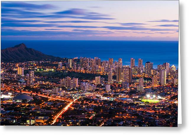 Evening In Honolulu Greeting Card