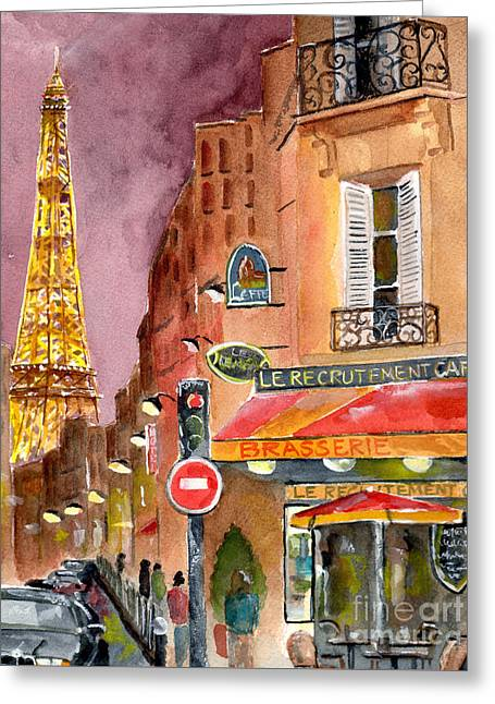 Evening In Paris Greeting Card