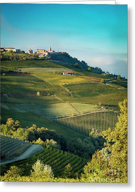Greeting Card featuring the photograph Evening In Piemonte by Brian Jannsen