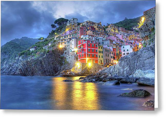 Evening In Riomaggiore Greeting Card