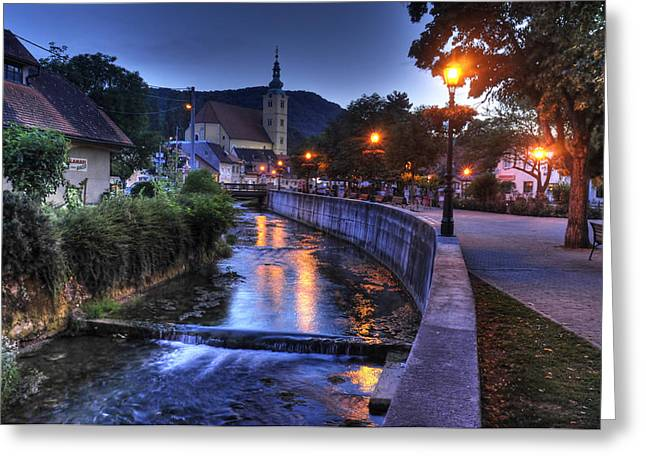 Evening In Samobor Greeting Card