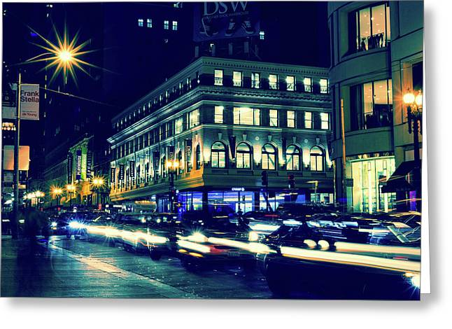 Evening In San Francisco Greeting Card