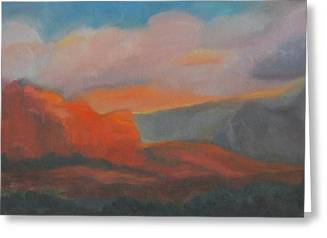 Evening In Sedona Greeting Card by Stephanie Allison