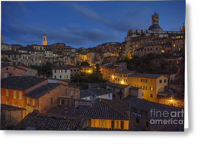 Evening In Siena Greeting Card