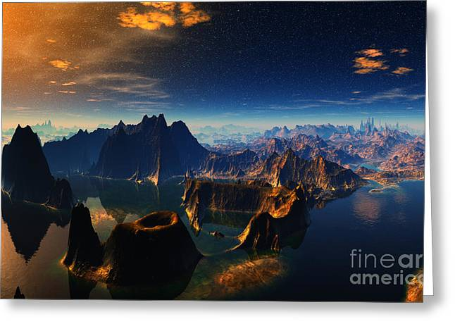 Evening In The South Pacific Mountain1 Greeting Card