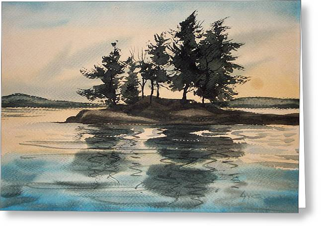 Evening Island Greeting Card