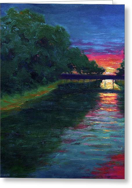 Evening, Lagan Lake Reflections Greeting Card