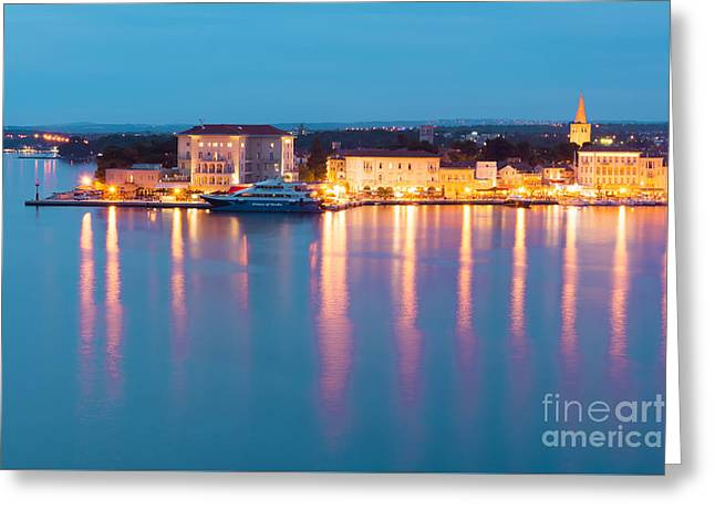 Evening Lighs Greeting Card by Svetlana Sewell