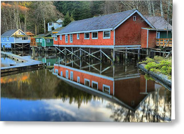 Evening Light At Telegraph Cove Greeting Card by Adam Jewell