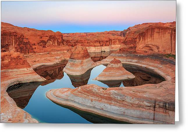 Evening Light In Reflection Canyon. Greeting Card