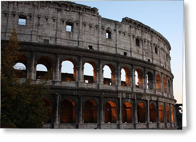 Evening Light In Rome Greeting Card by Pat Purdy