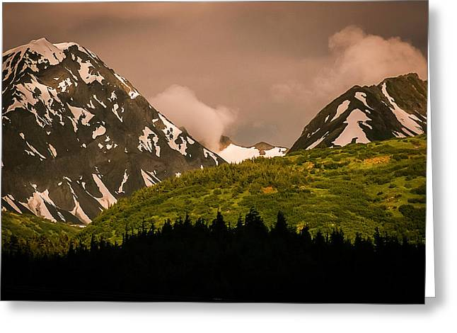 Evening Light Kenai Peninsula Greeting Card