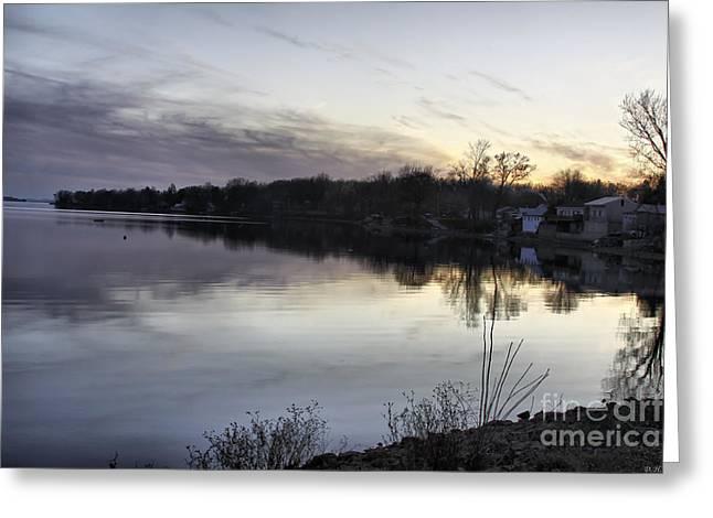 Evening Light On Lake Champlain Greeting Card