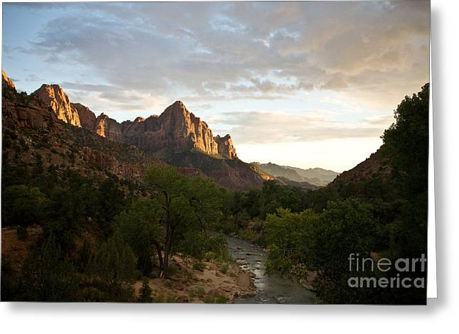 Evening Light On Watchman Greeting Card by Carl Jackson
