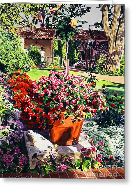Evening Light Santa Barbara Biltmore Greeting Card by David Lloyd Glover