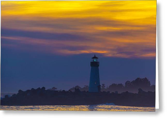 Evening Lighthouse Greeting Card