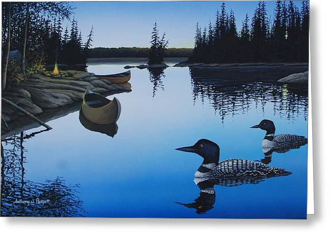 Evening Loons Greeting Card