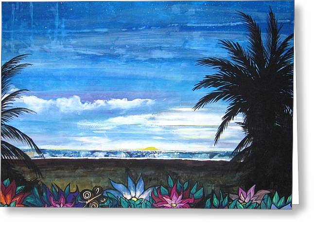 Tropical Evening Greeting Card