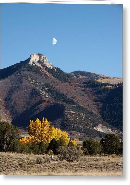 Evening Moon Greeting Card by Jan Brieger-Scranton