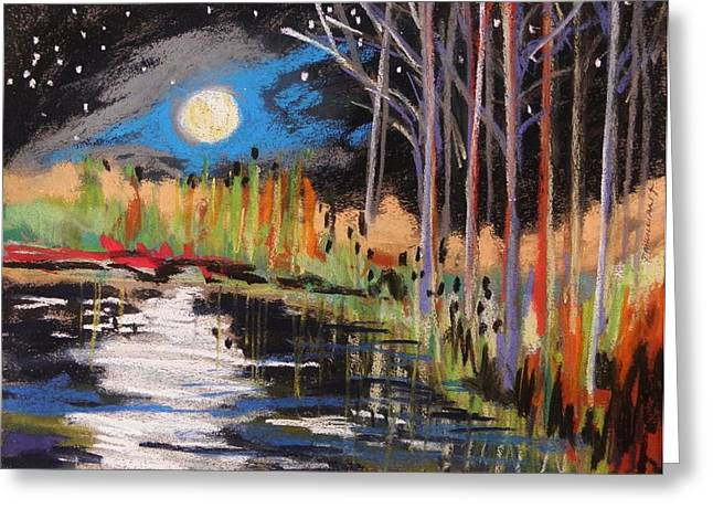 Evening Near The Pond Greeting Card by John Williams