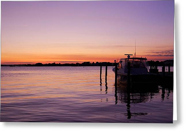 Evening Of Peace - Jersey Shore Greeting Card by Angie Tirado