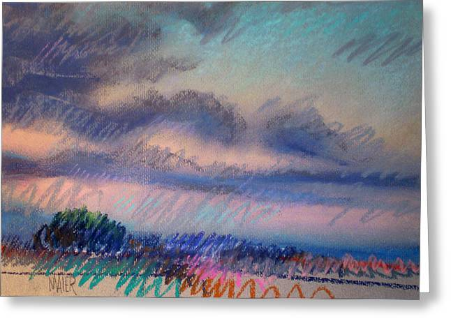 Evening On The Coast Greeting Card