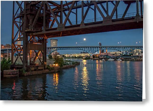 Evening On The Cuyahoga River Greeting Card