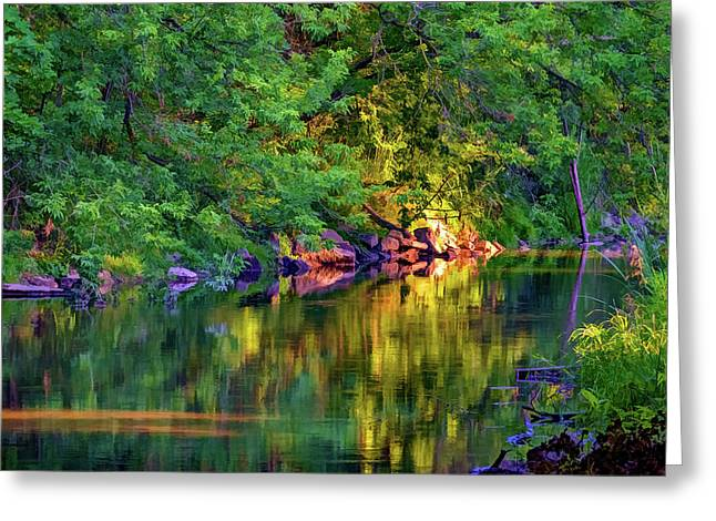 Evening On The Humber River - Paint Greeting Card by Steve Harrington