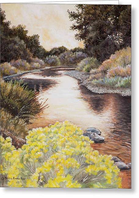 Evening On The John Day River Greeting Card