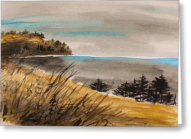 Evening On The Seacoast Greeting Card by John Williams