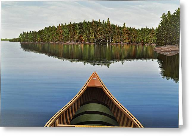Evening Paddle  Greeting Card