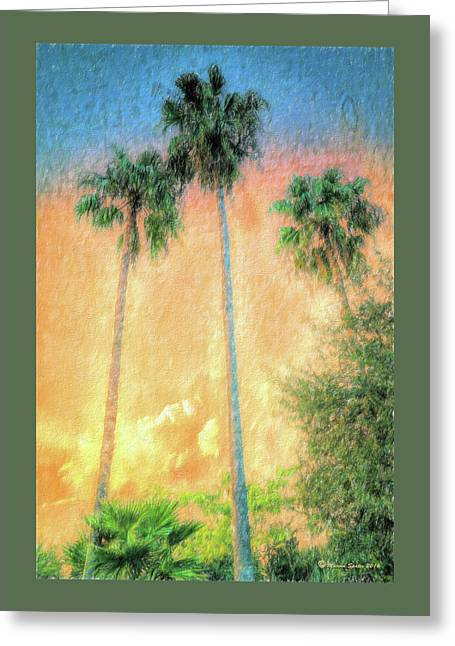 Evening Palms Greeting Card by Marvin Spates