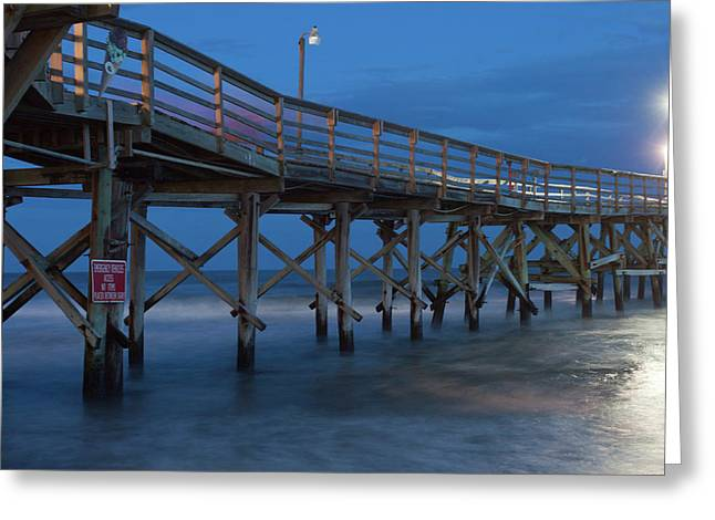 Evening Pier Greeting Card