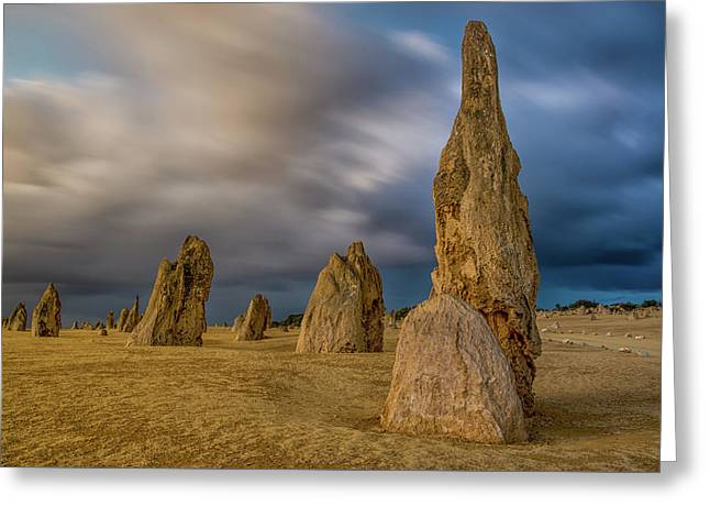 Evening Pinnacles Greeting Card by Martin Capek