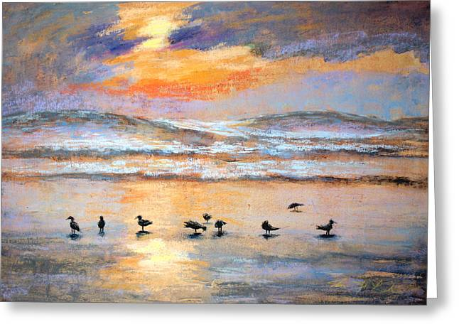 Pacific Pastels Greeting Cards - Evening Prayer Greeting Card by Karin  Leonard