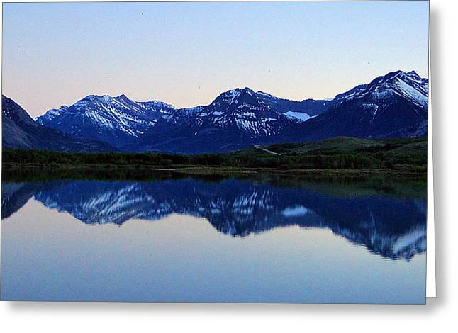 Greeting Card featuring the photograph Evening Reflection by Blair Wainman