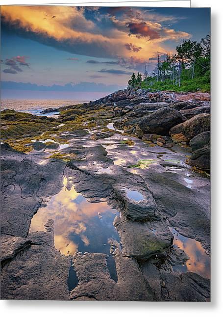 Evening Reflection, Bristol, Maine Greeting Card