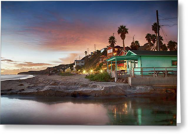 Evening Reflections, Crystal Cove Greeting Card