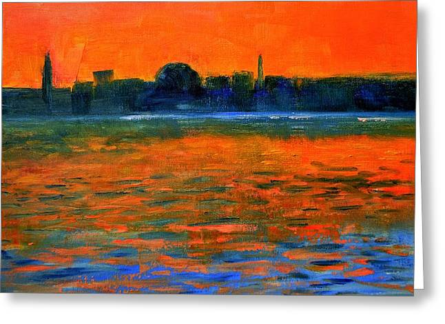 Evening Reflections Greeting Card by Marla McPherson
