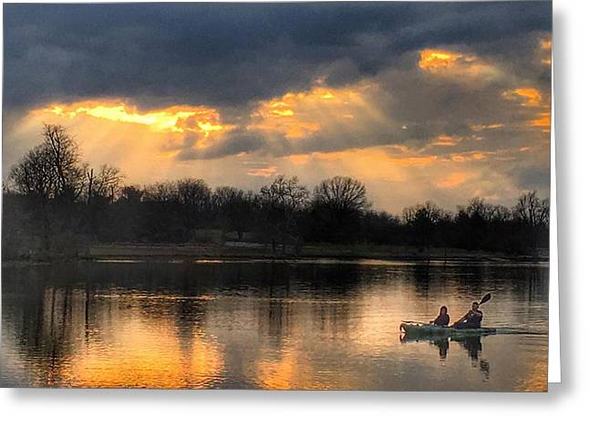 Evening Relaxation Greeting Card by Sumoflam Photography
