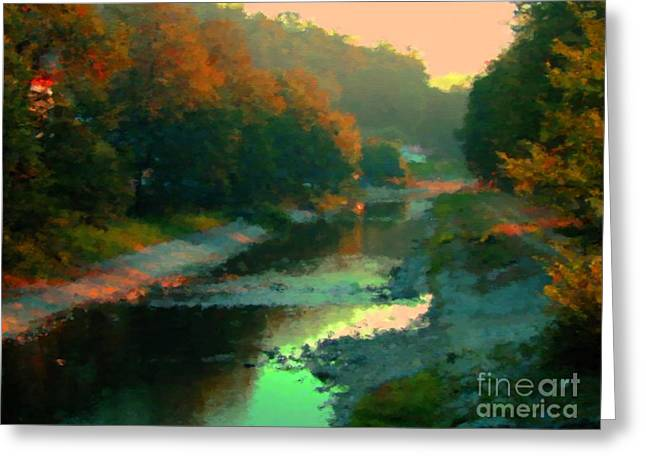 Evening River Greeting Card