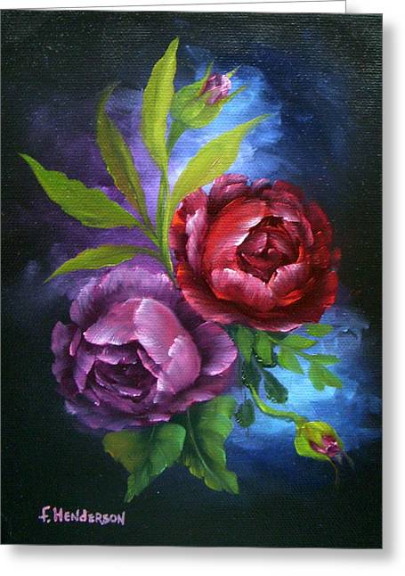 Evening Roses Greeting Card