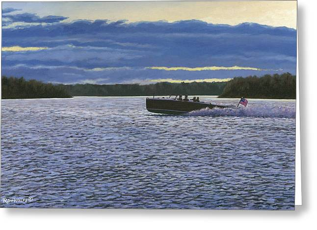 Richard De Wolfe Greeting Cards - Evening Run Greeting Card by Richard De Wolfe