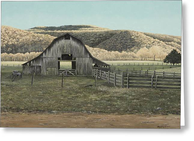 Evening Shadows In Boxley Valley Greeting Card by Mary Ann King