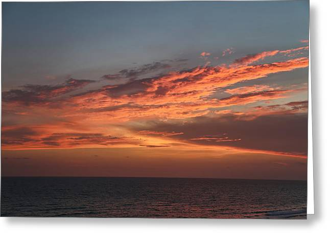 Evening Skies Over The Gulf Greeting Card