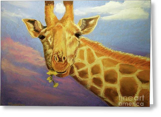 Evening Snack Greeting Card by Joan Swanson