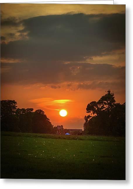 Evening Sun Over Picnic Greeting Card