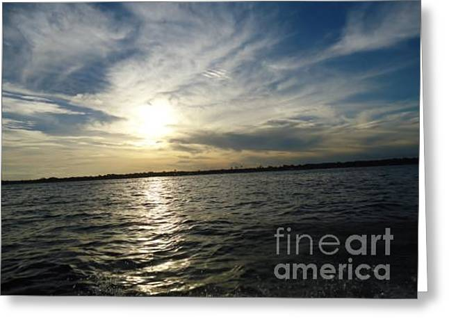 Evening Sun Greeting Card by TSB Art Gallery Dennis Thompson Jr Curator Photographer
