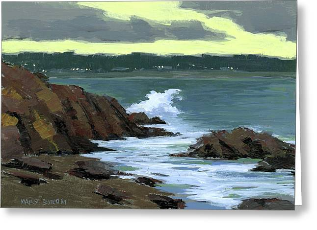 Evening Surf Greeting Card by Mary Byrom